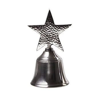 Image of Metal Hand Bell with Star Design Handle Christmas Accessory