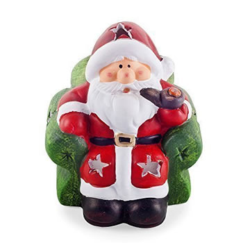 Image of Armchair Design Father Christmas Tealight Holder / Lantern