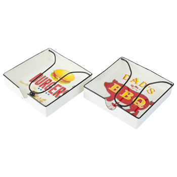 Image of Retro-inspired Metal Napkin Holders for Outdoor Dining & BBQs (Set of 2)