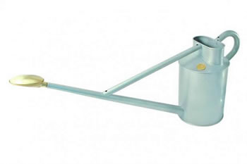 Image of Haws 8.8 Litre Professional Long Reach Watering Can Silver