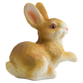 Image of Set of 3 Detailed Polyresin Mini Rabbit Ornaments