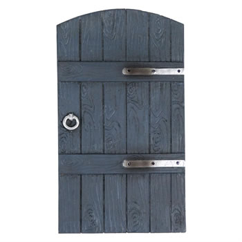 Image of Garden Fairy Door Grey Wood Effect Design Ideal for Outdoors or Indoors