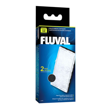 Image of Fluval U2 Poly/Carbon Cartridge (2pcs)