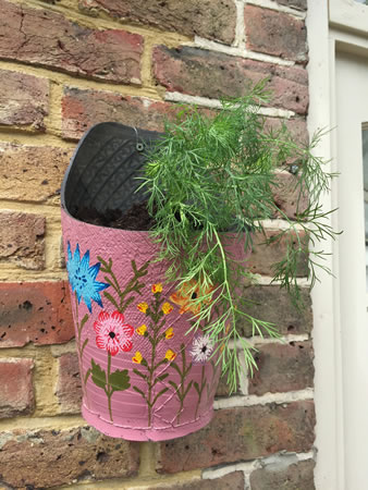 Extra image of Nutley's Triple Pack Round Recycled Tyre Wall Planters
