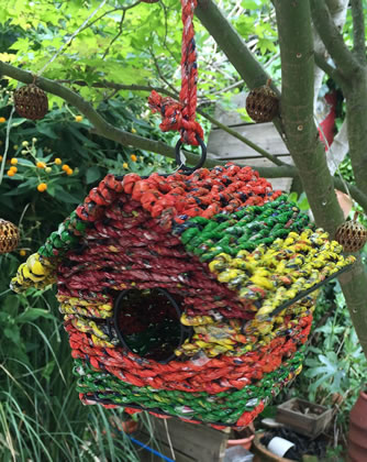 Extra image of Nutley's Square Woven Bird House Garden Multi-coloured
