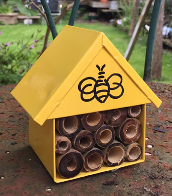 Extra image of Nutley's Yellow Miniature Insect House with Bee Decoration