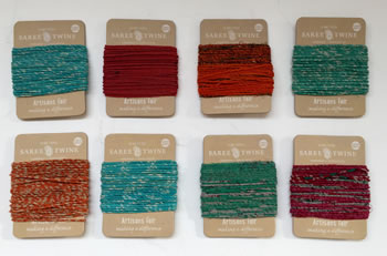 Image of Nutley's Pack of 8 10m Recycled Sari Twine Fairtrade Colourful Bright