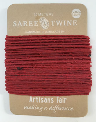 Extra image of Nutley's Pack of 8 10m Recycled Sari Twine Fairtrade Colourful Bright