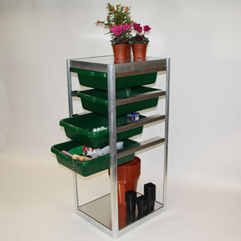 Image of Adjustable Storage Unit 61cm high complete with 3 Drawers