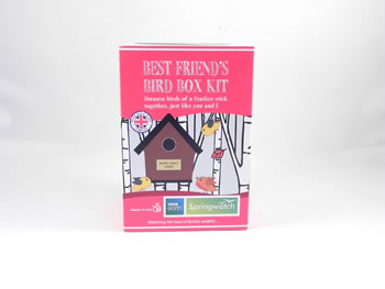 Image of Apples to Pears Springwatch Best Friend's Bird Box Kit Gift Blue Tits, Sparrows, Robins