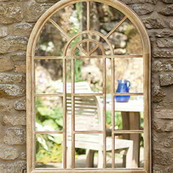 Image of Stone Effect Steel Victorian Style Wall Mirror