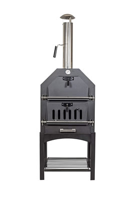 Image of La Hacienda Multi-Function Outdoor Steel Pizza Garden Oven