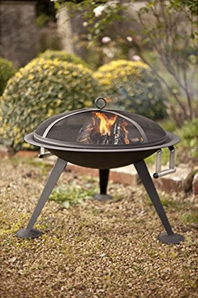 Extra image of La Hacienda Black Steel Firebowl Firepit Wood Burner Patio Heater