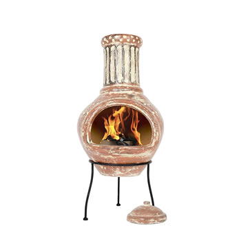 Extra image of La Hacienda Calido Large Clay Chiminea Patio Heater