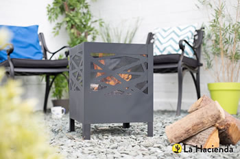 Image of La Hacienda Minnesota Modern Steel Fire Basket Firepit