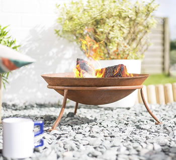 Image of La Hacienda Kutu Oxidised Cast Iron Firepit with Steel Stand