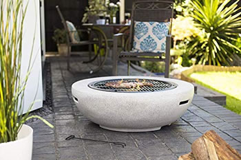 Image of La Hacienda Barcelona Terrazzo effect Magnesia Firepit with Grill