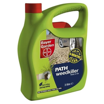 Image of Bayer 3 Litre Ready-To-Use Path Weed Killer (80927657)