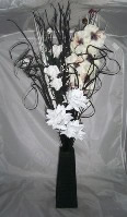 Small Image of Black bouquet in vase