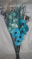 Small Image of Teal & Cream Bouquet