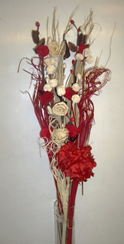Image of Red & Cream Bouquet