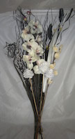 Small Image of Blackgrass & White Orchid Bouquet