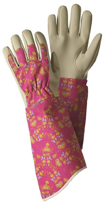 Image of Briers Oriental Floral Gauntlet Gloves Garden Outdoors
