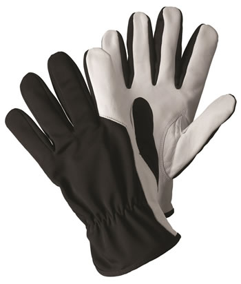 Image of Briers Super Soft & Strong Black Leather Gardening Gloves Outdoors