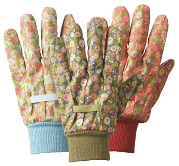 Image of Briers Orangery Triple Pack Gardening Gloves Floral Outdoors