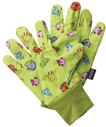 Image of Briers Children's Jungle Garden Gloves Outdoors Bright