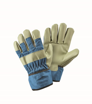 Image of Briers Children's Blue Rigger Garden Gloves Outdoor