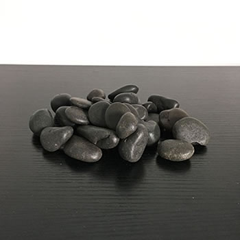Image of 1kg New Black Natural Decorative Stones Pebbles