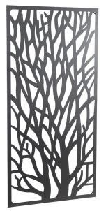Image of New! Wonderful Black coloured Steel Garden Metal Tree Screen 1.8m tall - ideal for a screen fence or wall mounting and climbing plants!