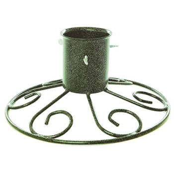 Image of Tom Chambers 10cm (4inch) Sleigh Base Christmas Tree Stand - Green (CT025GRN)