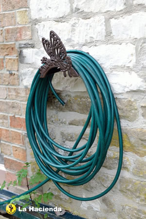 Image of New Cast Iron Butterfly Garden Hose Holder
