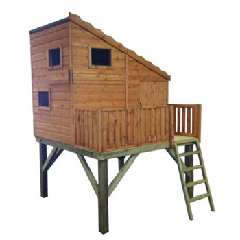 Image of Shire - Command Post Playhouse with Platform (6' x 6')