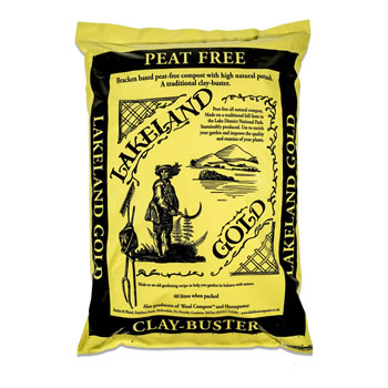 Image of Lakeland Gold Peat Free Compost High Potash 40 Litres (Set of 2 Bags)