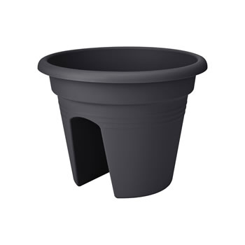 Image of Elho Green Basics Round Adjustable Planter in Anthracite (Small)