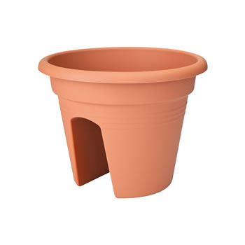 Image of Elho Green Basics Round Adjustable Planter in Warm Grey (Small)