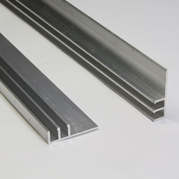 Image of Pack of 10 - Aluminium Extrusion 'F' Section 125cm long