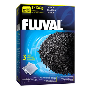 Image of Fluval Carbon 3 x 100g