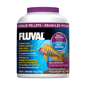 Image of Fluval Cichlid 1mm Sinking Pellets 90g