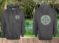 Image of Green Vintage Flowers Unisex Hoodie