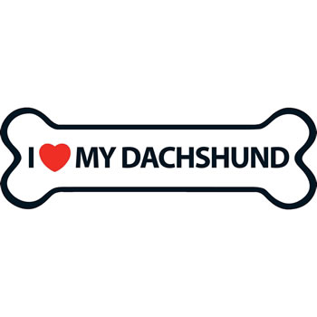 Image of I Love My Dachshund Magnet