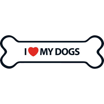Image of I Love My Dogs Magnet