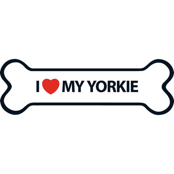 Image of I Love My Yorkie Magnet