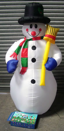 Image of Christmas Inflatable Snowman - 1.8m