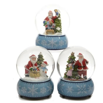 Image of Lumineo Colour Changing LED Indoor Snow Globe - 10 x 10 x 13cm (481366)