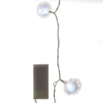 Image of Lumineo Transparent/Cool White LED Indoor Snowball Lights - 2.75m (483720)