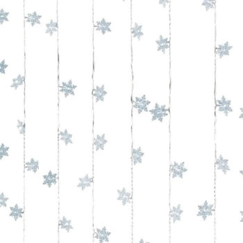 Image of Lumineo Transparent/Cool White LED Snowflake Curtain - 1.2 x 2m (498679)